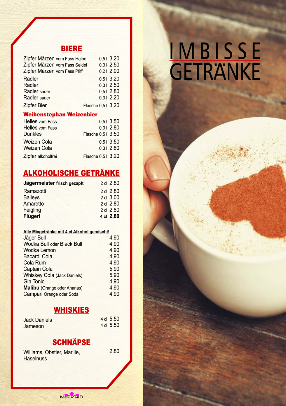 Imbisse & Getränke | Cafe Cup&Cino - Cafe Radfeld - Das Cafe in ...